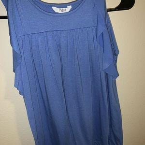 A blue blouse